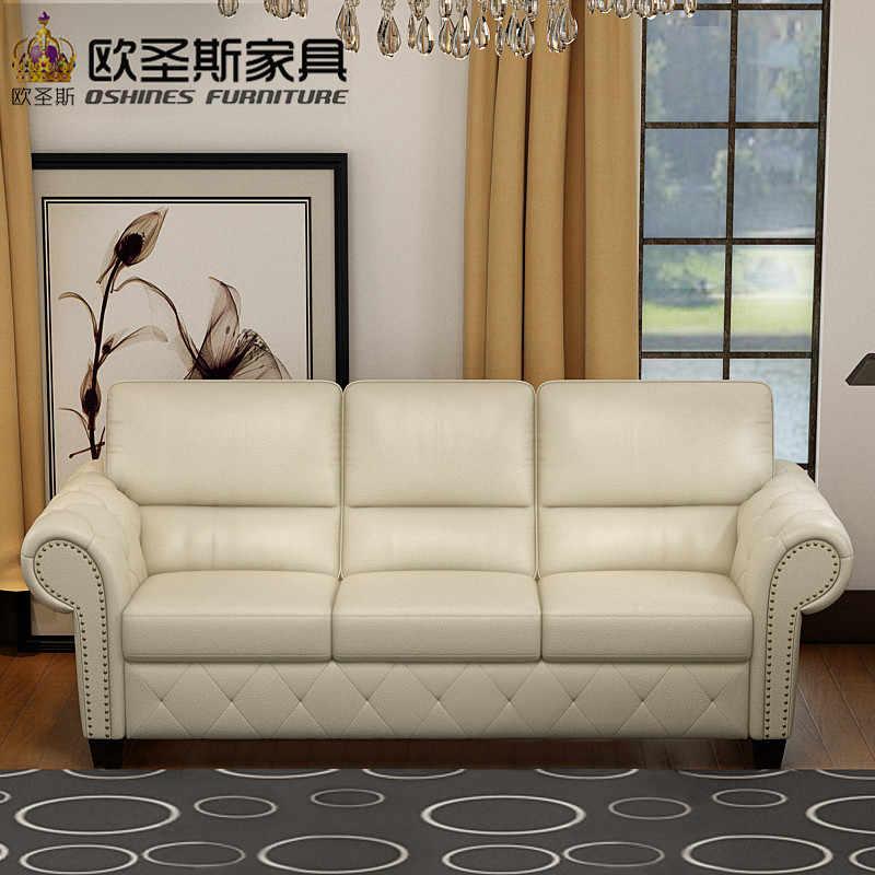 Luxury New Classic European Royal Sofa Set Designs American Style  Livingroom 3 Seater Leather Sofa Set Furniture Price List F79A