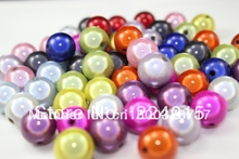 Freeshipping!200pcs/8mm Colored Round Pink Acrylic Beads Jewelry For & Necklace Findings