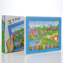 YS2921A English happy farm toy music machine educational learning machine children 's computer toy Ypad Early Childhood machine