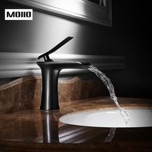Basin Faucets Waterfall Bathroom Faucet Single Handle Mixer Tap Black Bronze Faucet Brass Hot Cold Sink Water Crane torneiras цена