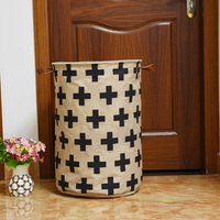 Linen lưu trữ không thấm nước thùng, gấp đồ chơi creative quần áo giỏ Chữ Thập Mẫu lưu trữ bag organizer giặt basket 40*60 cm