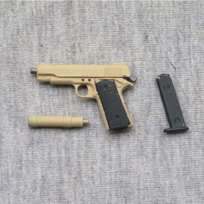 Sand Color 1 6 Scale Soldier Weapons Model Toys Assembling M1911 Gun Model For 12 Male