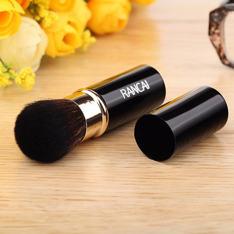 Multifunction Foundation Retractable Makeup Brushes Powder Blending Blush Face Brush Make up Cosmetic Tools For Women retractable cosmetic makeup powder multifunction brush claret red