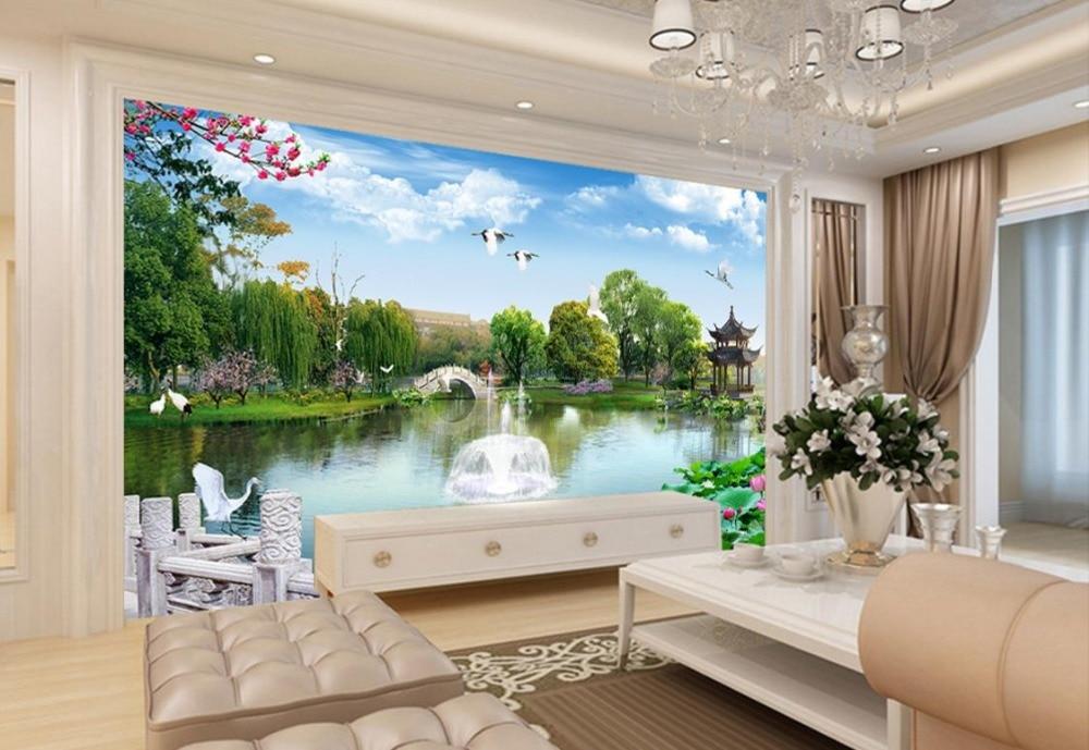 Photo Wall Mural Green garden Chinese Wallpaper Murals Landscape