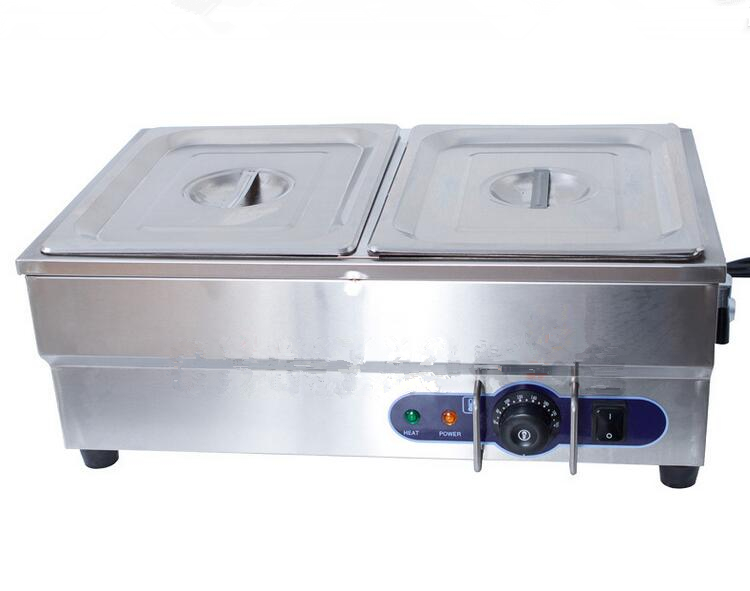 Brand New 220V Electric Stainless Steel Bain Marie With 2 pots for commercial kitchen Food Warmer pool