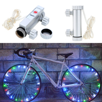 20 LEVARAM Luzes de Bicicleta de Montanha Luz Da Bicicleta Ciclismo Raios da Roda De Bicicleta Da Lâmpada Acessórios Aksesuar Bisiklet Luces Levou Bicicleta