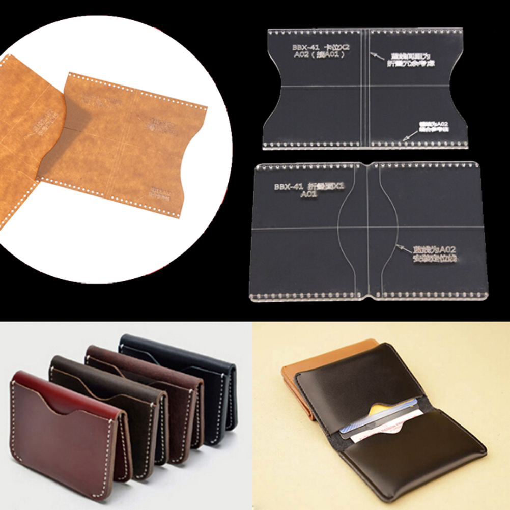 Acrylic Clear Template Handcrafting Set DIY Craft For Leather Wallet Bag Pattern High Quality