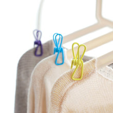 10 Pcs Random Color Mini Storage Clip Multi-purpose Candy Non-slip Windproof Durable Drying Hanger Desktop