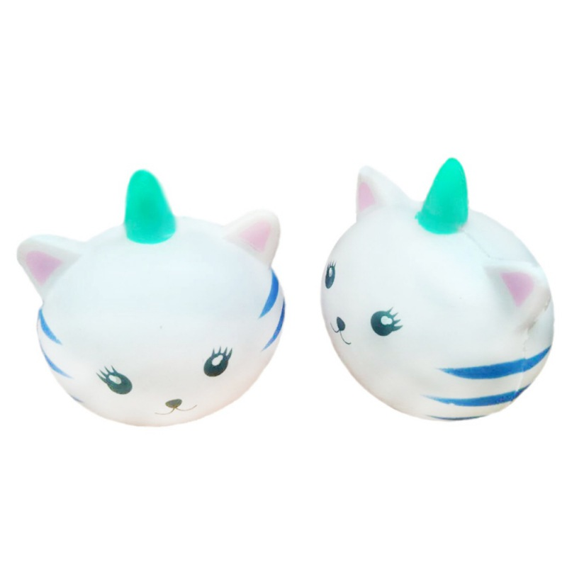 Kawaii Unicorn Cat Face Emoji Cloud Rainbow Star Squishy Slow Rising Cute Soft Squeeze Strap Scented Cake Bread Kid Toy Fun Gift