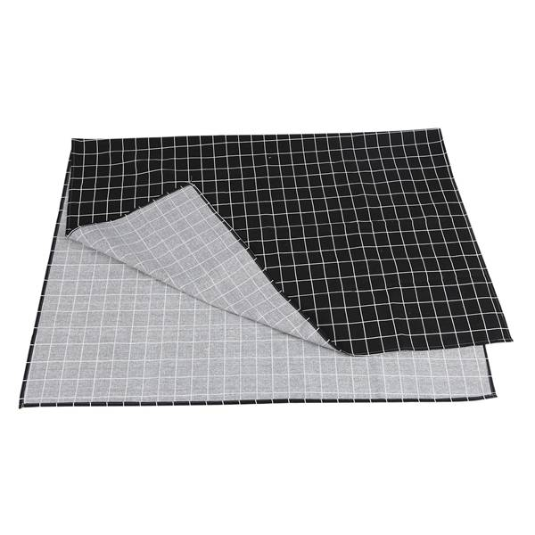 Image 5 - Hot Black Plaid Table Cloth Home Coffee Table Decorative Brief Tablecloth For Home Restaurant Shop Decoration-in Tablecloths from Home & Garden