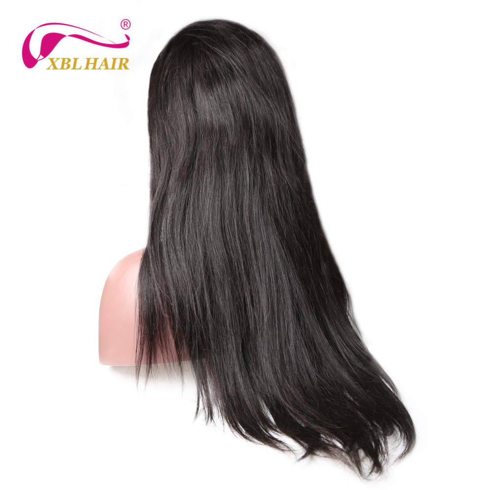 XBLHAIR 360 Lace Frontal Wigs For Women Straight Hair Natural Color Pre Plucked Natural Hairline Remy Human Hair 360 Wigs
