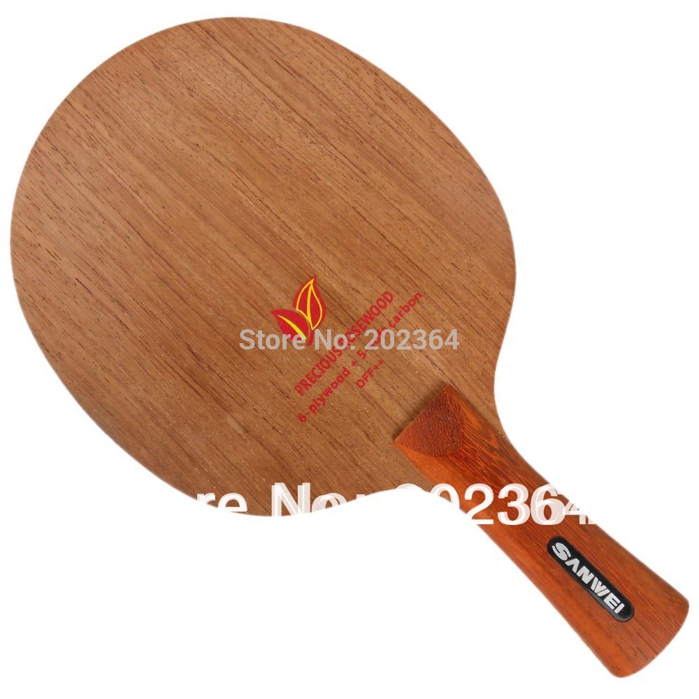 ФОТО Sanwei H2 ( H 2, H-2 ) Rosewood, 6 Plywood + 5 Soft Carbon OFF++ Table Tennis Blade for PingPong Racket