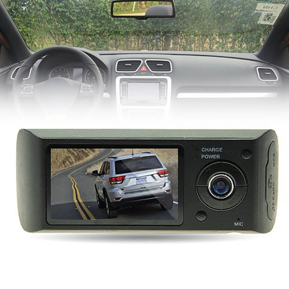 "Dash Camera 2.7"" Vehicle Car DVR Camera Video Recorder Dash Cam G-Sensor GPS Dual Lens Camera X3000 R300 Car DVRs"