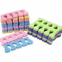 20 piezas = 10 pares de separadores populares de dedos de los pies para decoración de uñas esponja suave herramientas de belleza divisores manicura pedicura profesional