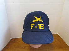 Impresso F-16 Fighting Falcon Jet Fighter Chapéu do Snapback do Boné de Beisebol Azul Aeronaves da Força Aérea(China)