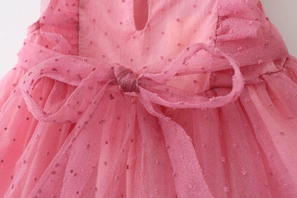 Обувь для девочек тюль Кружево Платья для женщин маленьких Обувь для девочек принцессы платье в горошек для малышей оборками платье 2018 Дети...