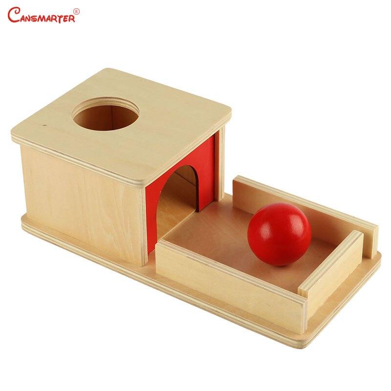 Montessory sensoriel jeu Math jouets matériaux boîte avec plateau rond rouge cerveau pratique 0-3 ans préscolaire maison jouet en bois LT002-3