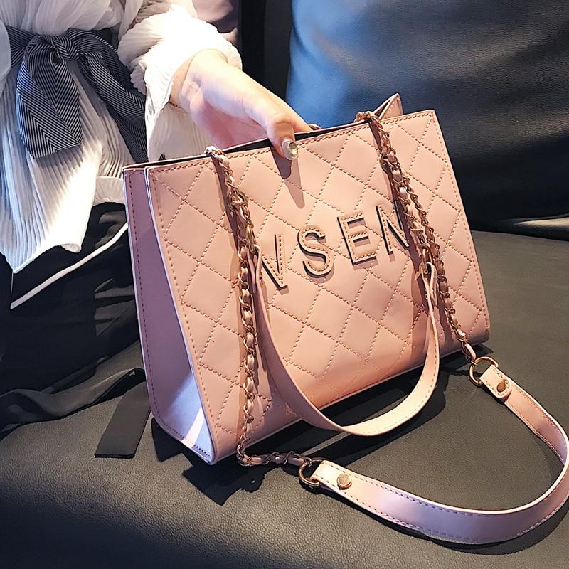 Free shipping, 2018 new fashion woman bag, trend Korean version handbags, simple diamond lattice women bag, leisure shoulder bag 1