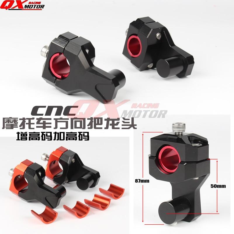 Billet CNC en aluminium Moto guidon rehaussement Modifiés Guidon Mont Pinces Riser pour 22mm ou 28mm MX Motocross