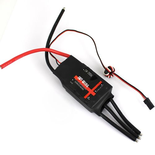 Skywing Brushless 200A ESC speed controller with 5V/3A BEC for for Fixed wing RC Airplane glider