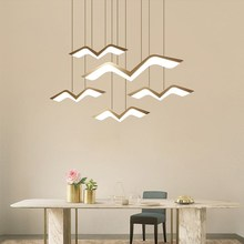 Modern Led Chandelier Lustre Lamp Hanging Lighting White Hanglamp Remote Control Kitchen Dining Room Office Decoration Fixture modern led lustre chandelier hanglamp remote control chandeliers hanging lighting dining room restaurant office light fixture