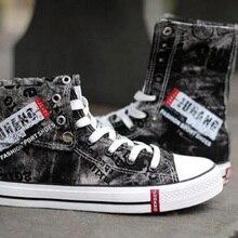 Graffiti Casual Denim Men's Sneakers Shoe