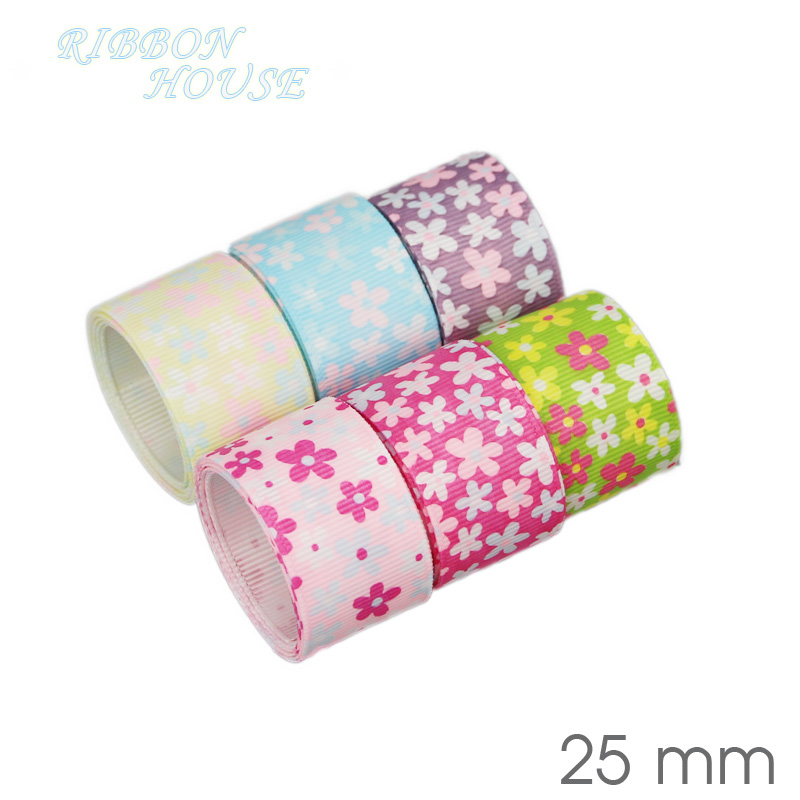 Image 5 - (6 Ribbon Mix) grosgrain ribbon printed lovely floral lace satin ribbons (9/22/25mm)-in Ribbons from Home & Garden