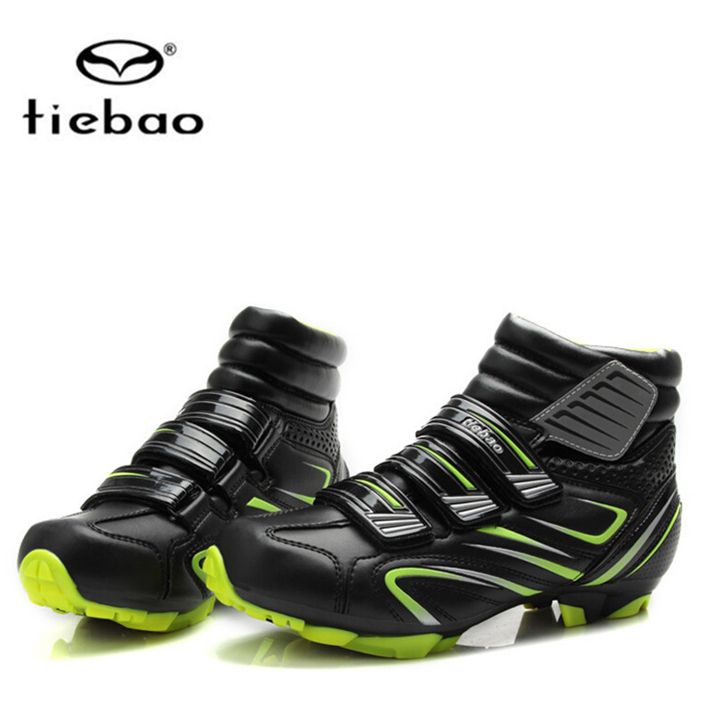 Купить с кэшбэком TIEBAO Winter Cycling Shoes mtb add SPD pedal set Men Bicycle Mountain Bike Shoes Non-slip Self-locking Sapatos de ciclismo