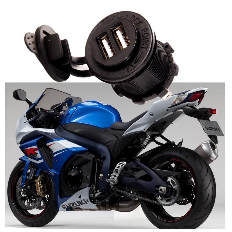Waterproof Vehicle Car-charger Dual USB Charger Socket Outlet 3.1 amp Panel Mount for Motorcycle 12V Cigarette Lighter Plug