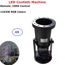 Stage Lighting Projector 12X3W LED Confetti Machine DMX/Remote Control 1200W DJ Stage Special Effect Wedding Confetti Cannon все цены