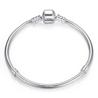 Top Quality14 22cm Silver Snake Chain Jewelry 925 Sterling Silver Bracelet Fitting European Popular Charms