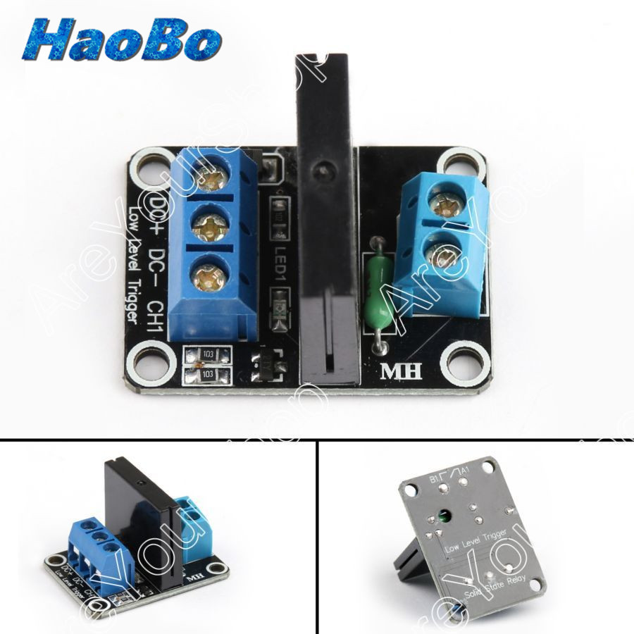 10pcs Dc 5v 1 Channel G3mb 202p Ssr Solid State Relay Module Board High Level Fuse For With Resistive Arduino Wholesale In Replacement Parts Accessories