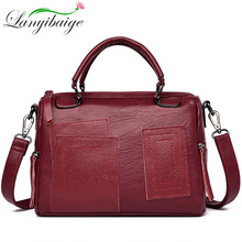 Women Vintage Leather Handbags Ladies High Capacity Top-Handle Bags
