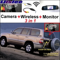 3 In1 Special Camera Wireless Receiver Mirror Monitor DIY Parking System For TOYOTA Land Cruiser LC
