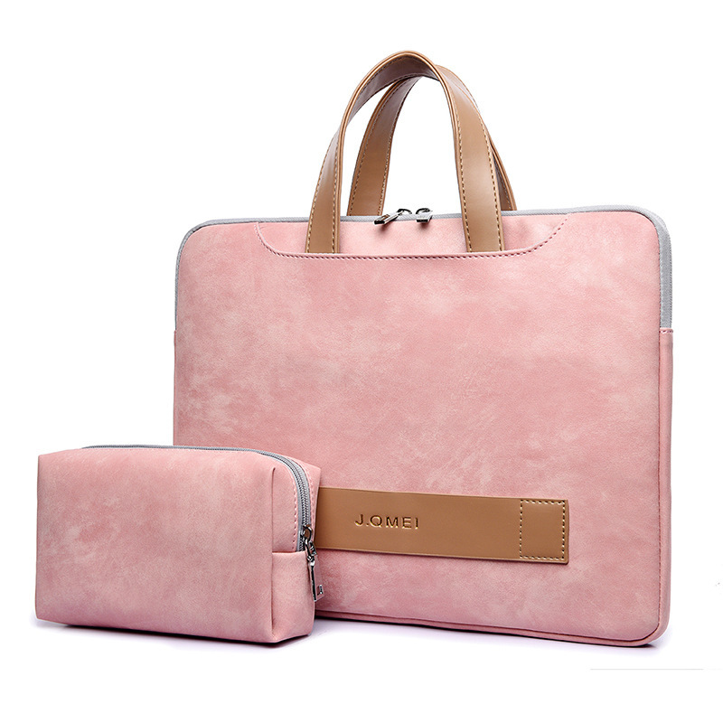 2019 Fashion Women Laptop Bag Portable Ultrathin Computer Handbag Men Briefcase Pu Leather Notebook Bags For IPAD DELL HP Acer