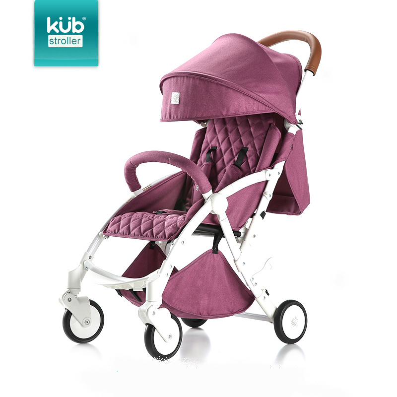 Super light travel  baby stroller folding four-wheel bb car six colors leather handle 3 positions 175 degree sleep the upgraded version of the six round meters blueprint baby swing car with light music four children skating factory direct driv
