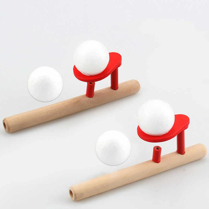 De madera de soplando Bola de equilibrio de la capacidad Vital palo para bebé niño chico de aprendizaje de juguetes educativos