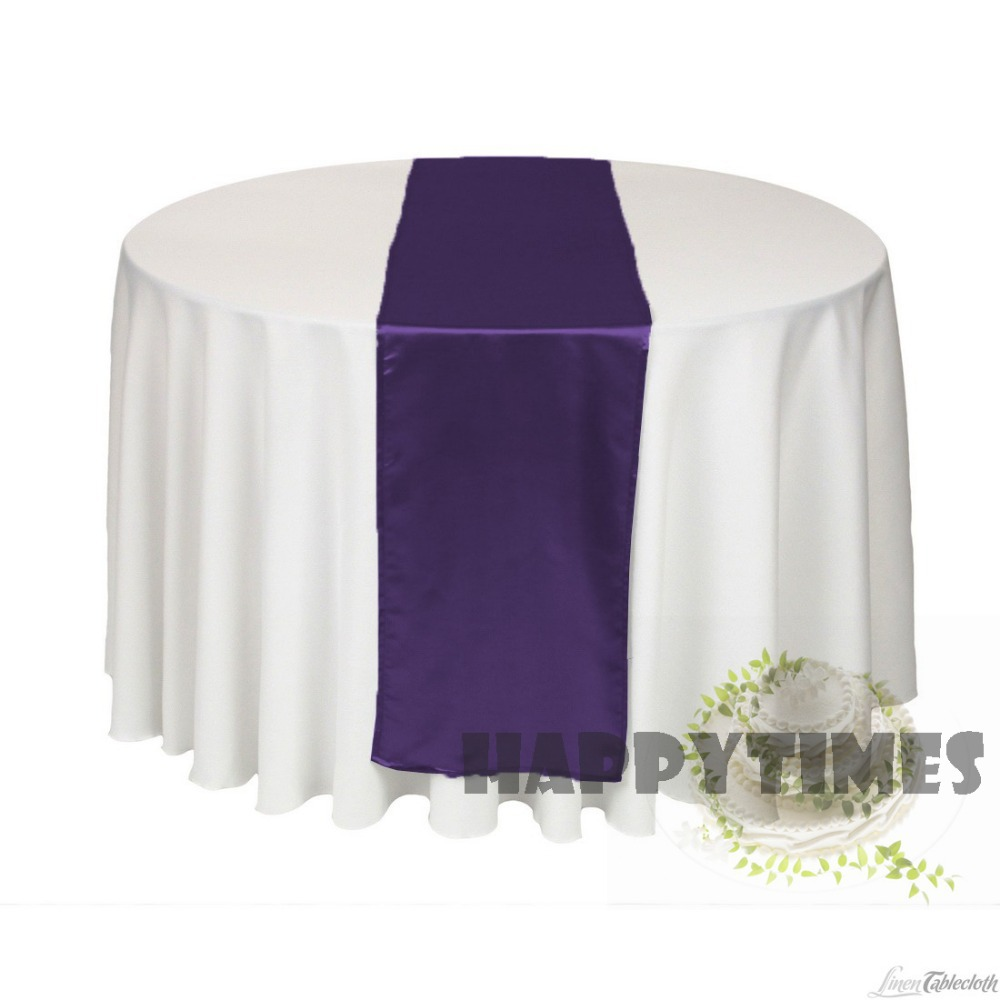 Table runner on round table - 20 Pieces Table Runner For Round Table Table Linen For Wedding Satin Table Ribbon Shiny Satin
