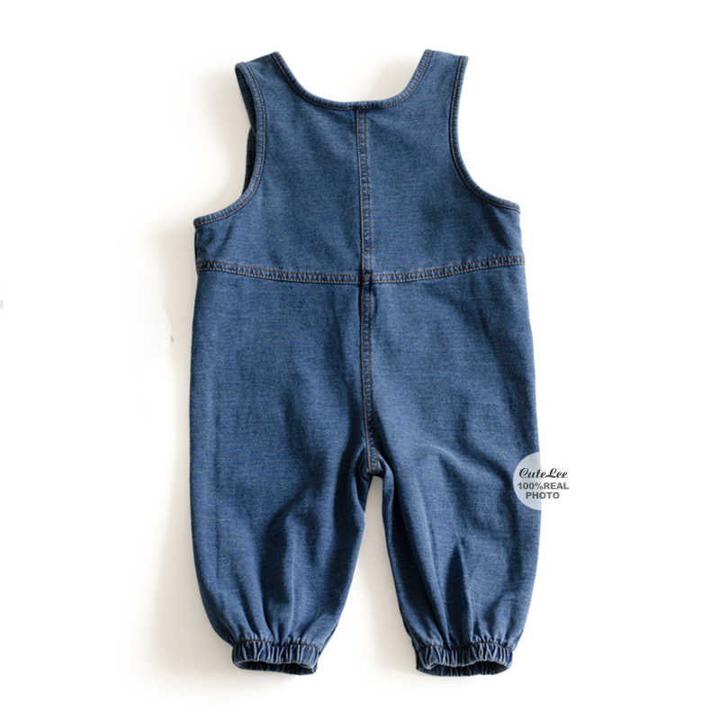 27f8218899a ... Pocket baby dungaree Denim jumpsuit Baby Rompers Solid Infant Clothes  Newborn Jumpsuit Boy Girls Costume Cowboy ...