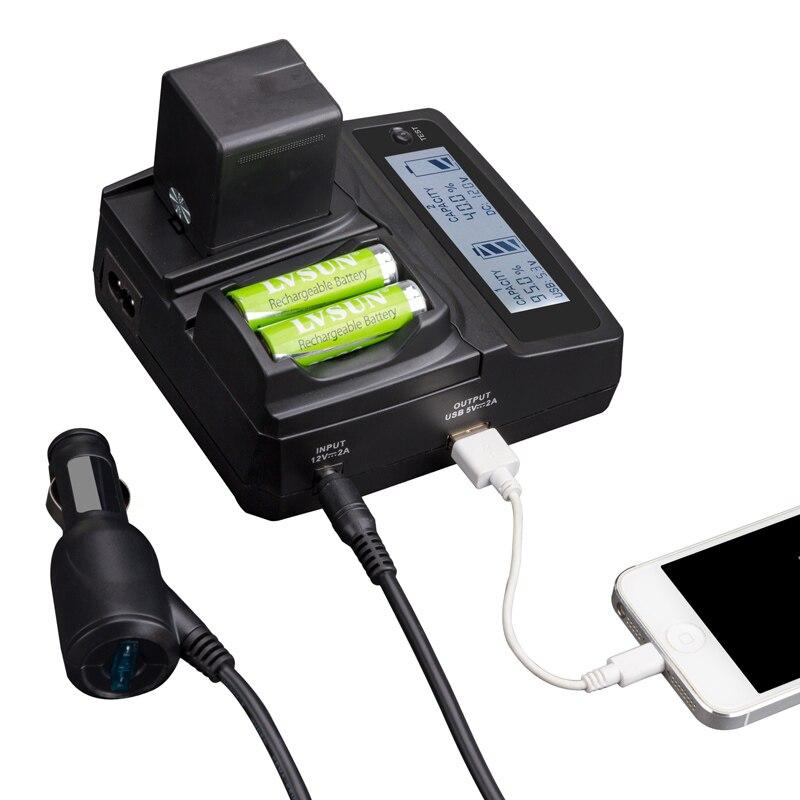 LVSUN universel téléphone + AA + AAA + chargeur de caméra pour Fujifilm NP60 NP120, BT3, S301, 1037,1137 pour KODAK K5000, K5001 pour NIKON EN-EL5