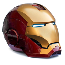 Iron Man Adult Motorcycle Helmet Cosplay Mask Touch Sensing Mask with LED Light Collectible Model Toy 1:1 High Quality the avengers iron man helmet cosplay touch sensing mask with led light marvel superhero iron man adult motorcycle abs helmet