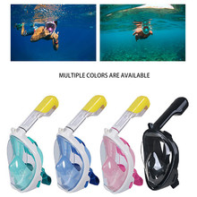 Diving Mask Scuba Underwater Anti Fog Full Face Snorkeling Women Men Kids Swimming Snorkel Equipment 30Dropping