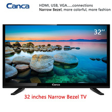 Envío Libre 19/22/24/32 pulgadas Borde LED Tv LCD 16:9 de Exploración Progresiva 1366*768 estéreo de Sonido HDMI Home/Hotel TV