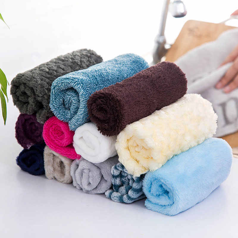 Microfiber Dish Cloth High Efficient Anti-Grease Fiber Washing Towel Washing Dishes Cleaning Wiping Rag Dishcloths Kitchen Tools