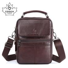 ZZNICK 2017  New Arrival Genuine Leather Bags For Men Shoulder Bag Mens Bag Messenger Bag Portfolio flap pocket 8206