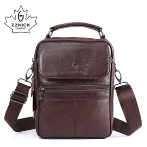 Image 1 - ZZNICK 2017  New Arrival Genuine Leather Bags For Men Shoulder Bag Mens Bag Messenger Bag Portfolio flap pocket 8206