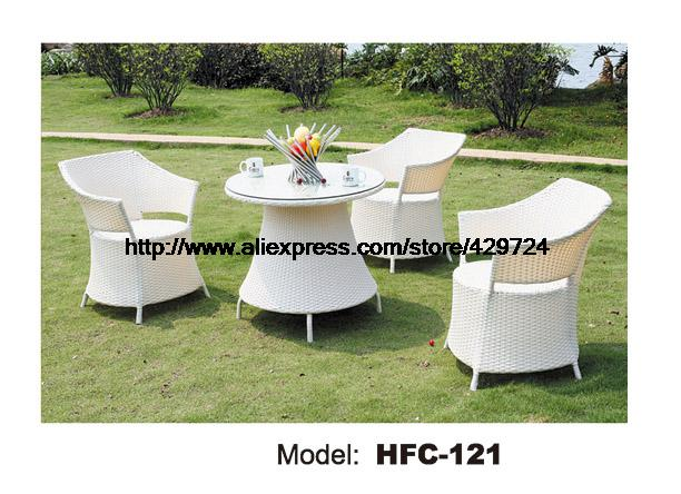 Cretaive Elegant Rattan Chair Round Coffee Table Tea Table Combination Furniture Low Price Balcony Outdoor Garden Set Manufactor