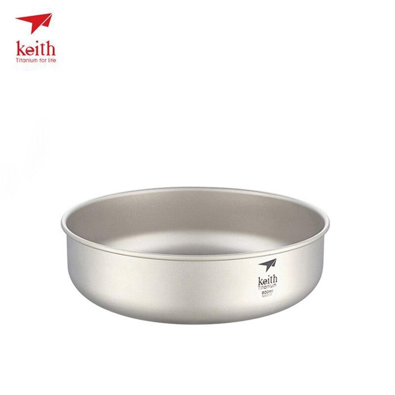 Keith Titanium Bowl Portable Ultralight Outdoor Bowl Picnic Bowl Camping Tableware Drinkware 92g 900ml Ti5338 Dropshipping