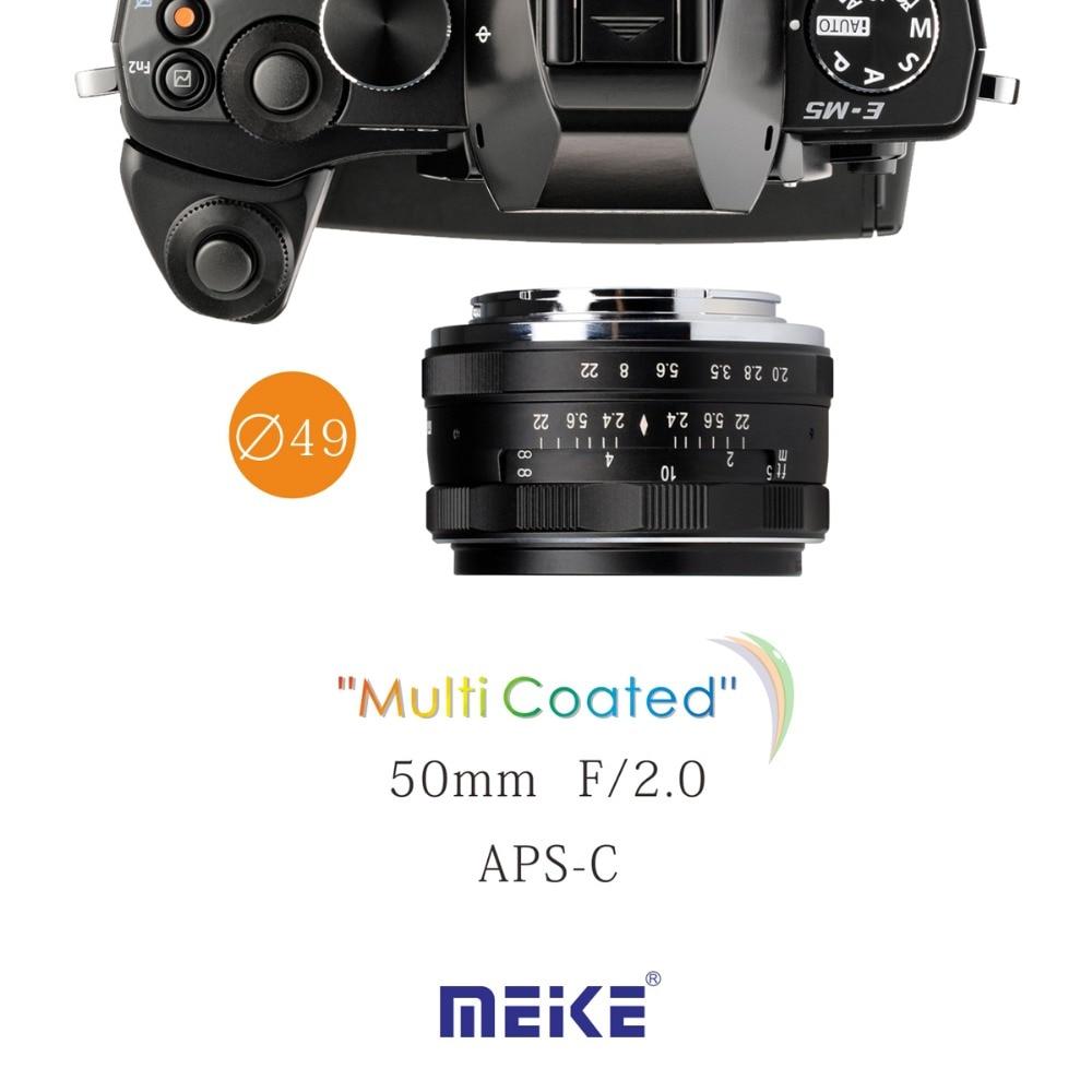 MEKE Meike MK-50mm F2.0 Micro 4/3-mount manual large aperture lens Mirrorless Camera lens metco meike mk f af3 fuji микро сингл крупным планом кольцо
