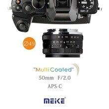 MEKE Meike MK-50mm F2.0 Micro 4/3 крепление ручной большой диафрагмы объектива Беззеркальных Объективов